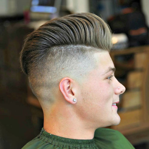 Undercut with Combed Over Pompadour