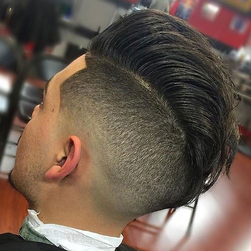 Undercut with Slicked Back Pompadour