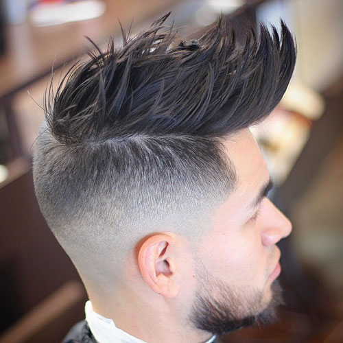 Undercut with Textured Spiky Hair