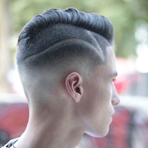 Undercut with Thick Comb Over and Hair Design