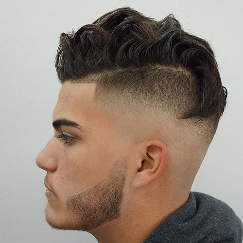 Undercut with Wavy Fohawk