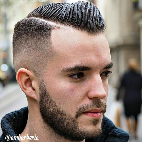 Classic Hard Side Part with High Bald Fade