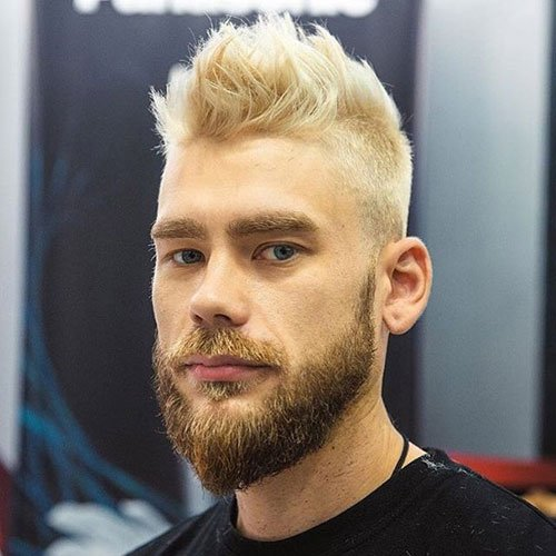 Cool Blonde Brushed Up Haircut