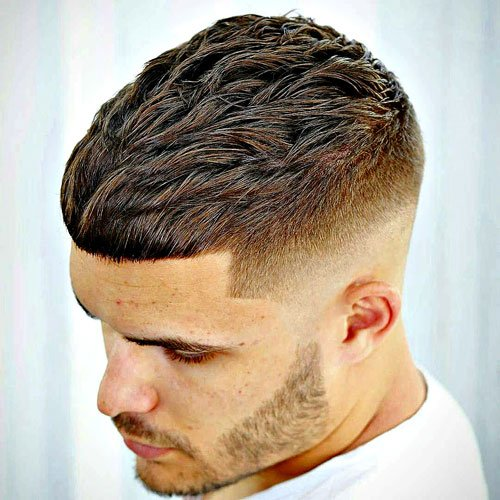 Cropped Hair with Mid Skin Fade