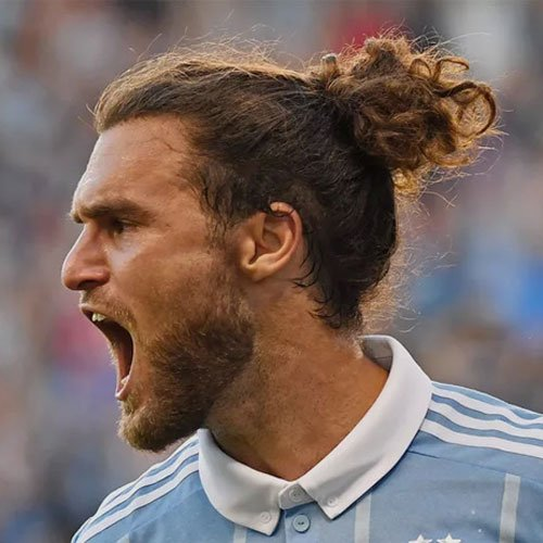 Graham Zusi - Long Wavy Man Bun