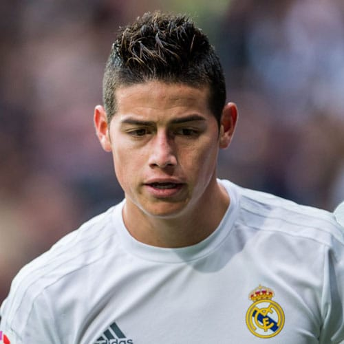 James Rodriguez - Short Spiky Hair + Undercut