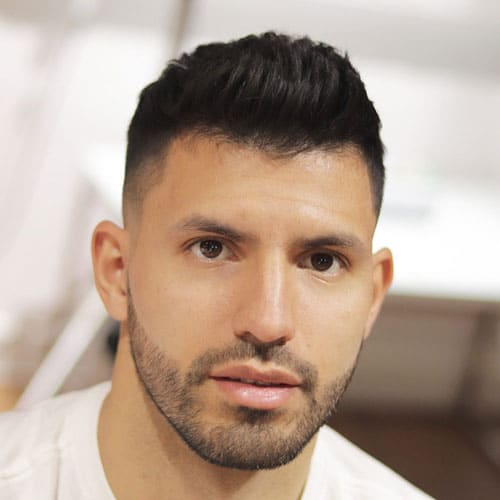 Sergio Leonel Aguero - Short Hair with High Skin Fade