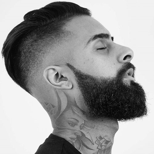 Skin Fade Undercut with Beard