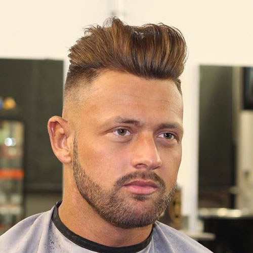 Thick Brushed Back Hair with Beard - 25 European Men's Hairstyles Men's Hairstyles + Haircuts 2017