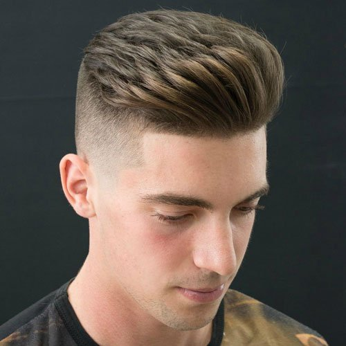 Undercut with Brush Up Hairstyle