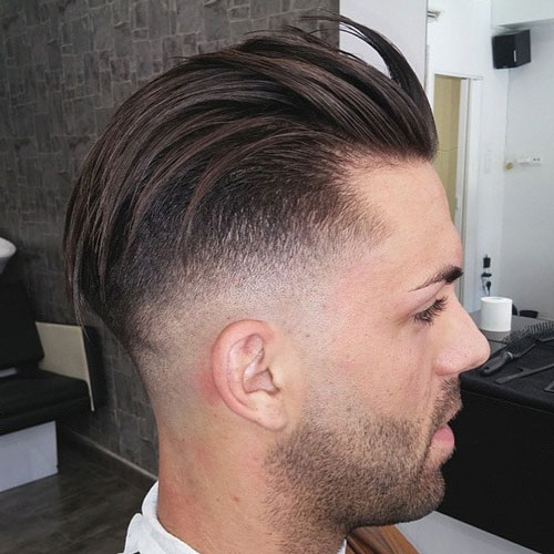 Cool Slicked Back Hair with Undercut Hairstyle