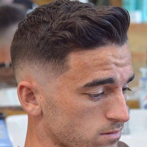 Crew Cut with Spiked Front and Low Skin Fade