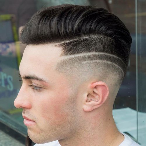 High Bald Fade with Comb Over and Hair Design