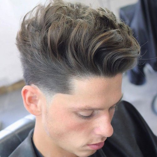 Long Quiff with Low Fade