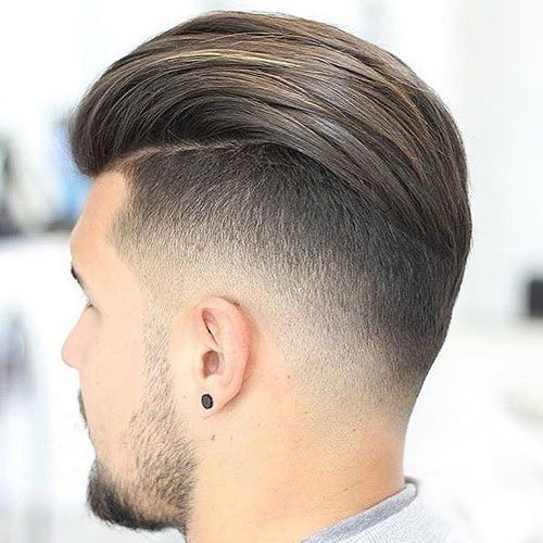 Slicked Back Undercut Hairstyle 2018