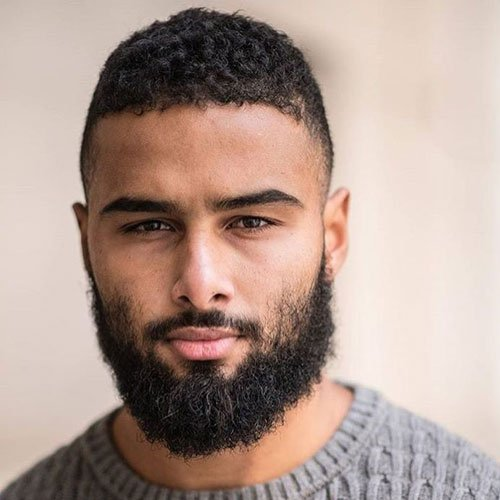 Messy Thick Beard For Black Guys