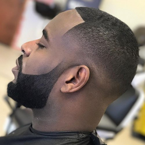 Short Beard + Skin Fade + Line Up