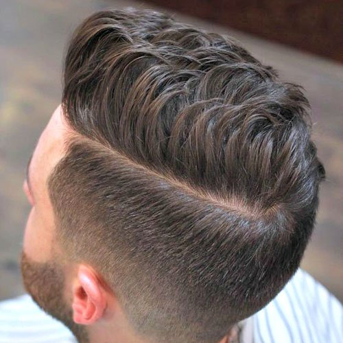 Textured Spiky Hair with Taper Fade