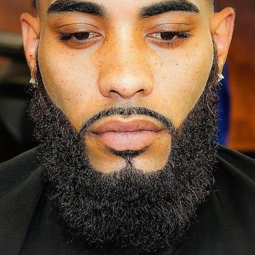 Thick Full Beard For Black Men