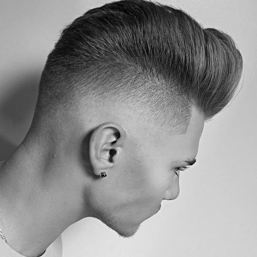 Undercut Fade with Comb Over Pompadour