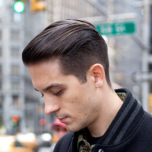 g eazy hair style g eazy hairstyle s hairstyles haircuts 2019 2211 | Cool G Eazy Hairstyles Taper Fade with Greaser Slick Back