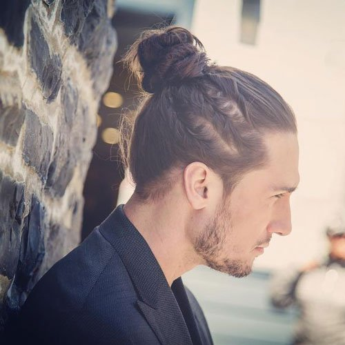 Cool Man Bun Hair For Men