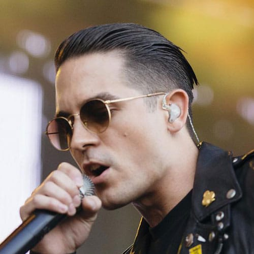 men hair cuts styles g eazy hairstyle 8850 | G Eazy Hairstyle Undercut with Tapered Slick Back