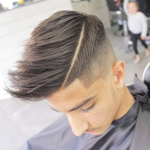 High Fade with Shape Up and Faux Hawk