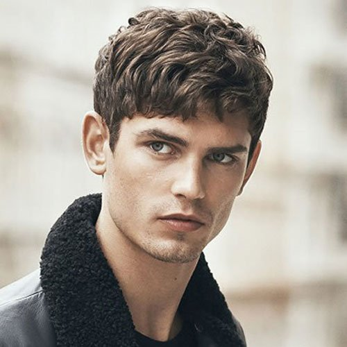 Attractive Man Fringe   Bangs For Men