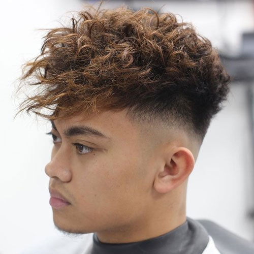Messy Fringe with High Bald Fade