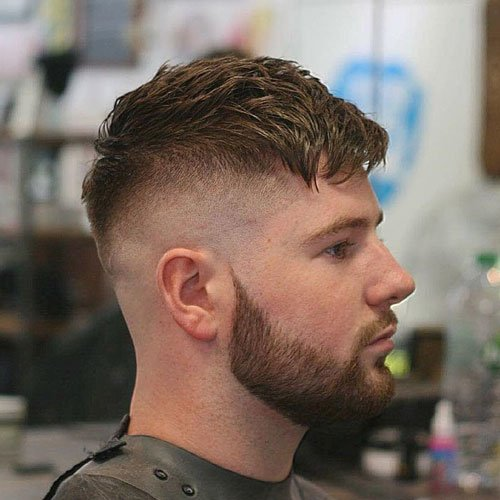 Peaky Blinders Hairstyle - Textured French Crop with Beard