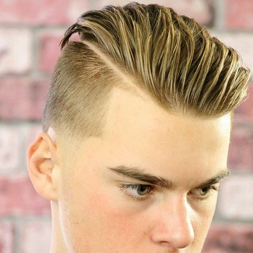 Slicked Back Undercut with Thick Hard Part