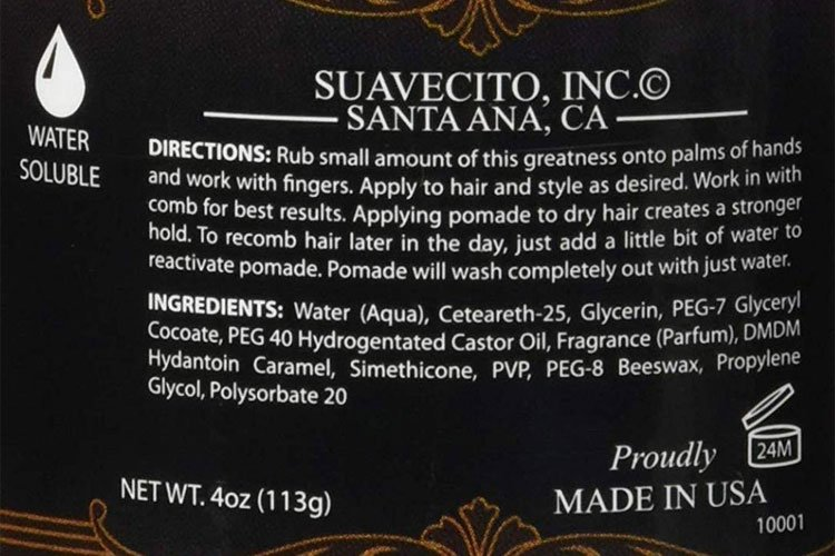 Suavecito Pomade Ingredients