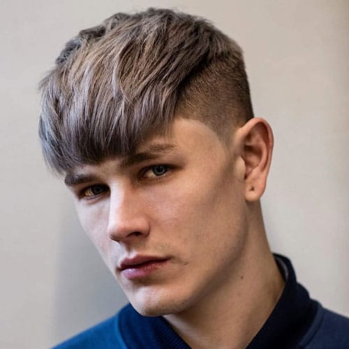 Thick Straight Fringe with High Taper