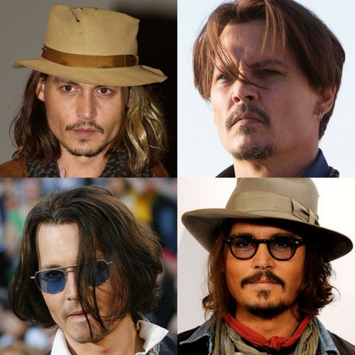 Best Johnny Depp Hair and Hairstyles