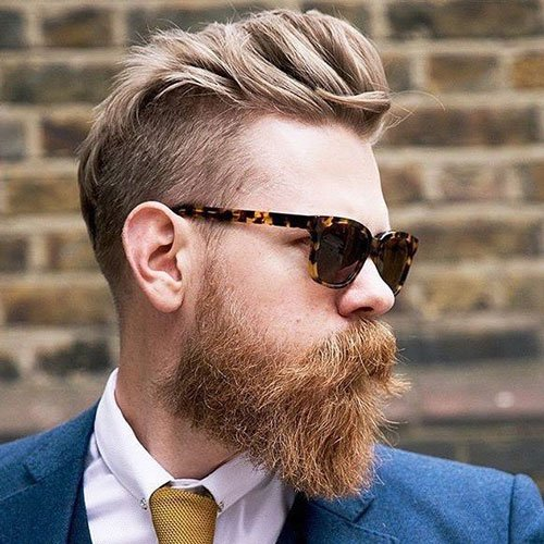 Blonde Hair and Beard Styles