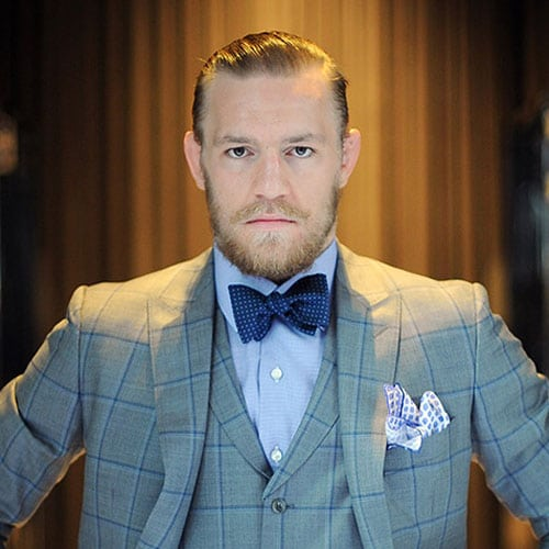 Conor McGregor Haircut - Dapper Tapered Sides with Slicked Hair