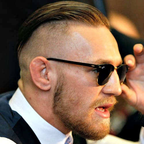 Conor McGregor Haircut - Undercut with Slicked Back Hair