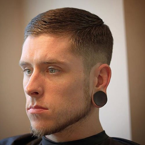 Cool Fade with Beard - Low Taper Fade with Goatee