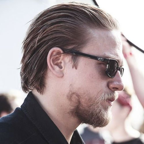 Cool Jax Teller Slicked Back Hairstyle