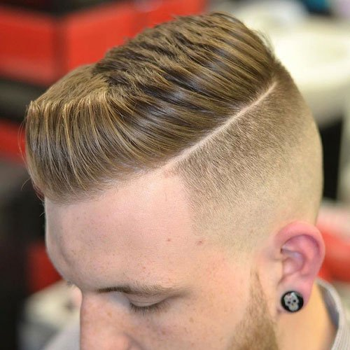 Disconnected Short Pompadour with Hard Part