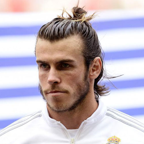 Gareth Bale Haircut - Long Hair with Top Knot