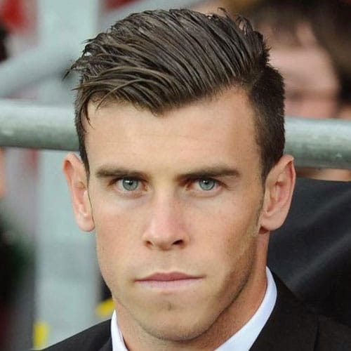 Gareth Bale Haircut - Taper Fade with Angular Comb Over