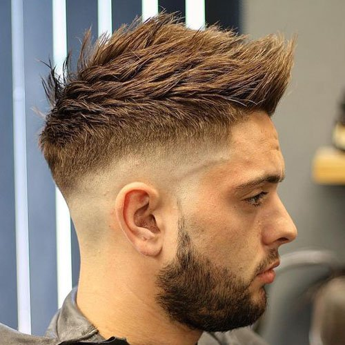 High Bald Fade Spiky Faux Hawk