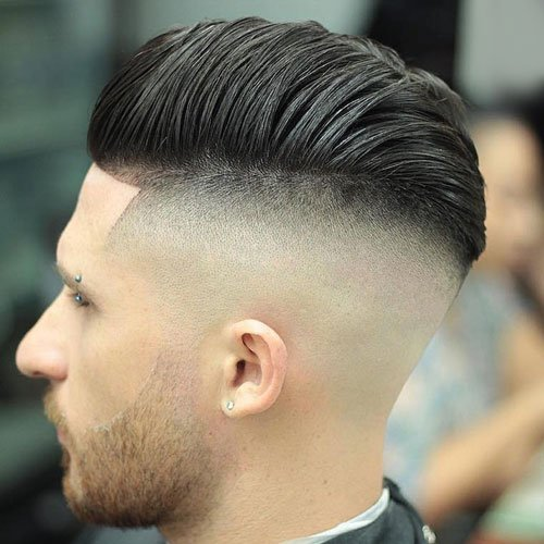 High Razor Faded Comb Over Pomp