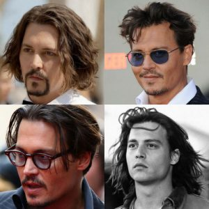 Johnny Depp Hairstyles