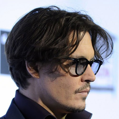 Johnny Depp Short Hairstyles