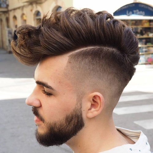 Long Fohawk + High Undercut Fade + Beard