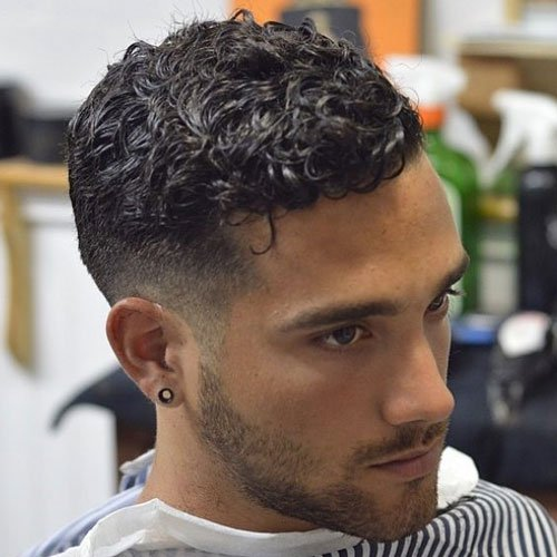 Low Razor Fade with Curly Hair