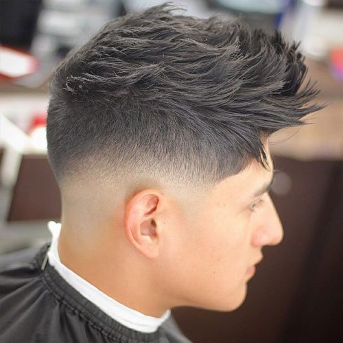 The razor fade haircut low razor fade with textured spiky hair winobraniefo Images